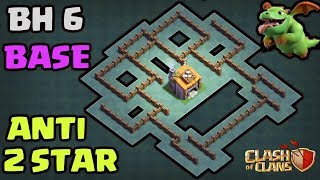 ⚔BH6 Base Builder Hall 6 ⚔IMPOSSIBLE 2 STAR With Replay Anti Giant Anti Barcher | CLASH OF CLANS