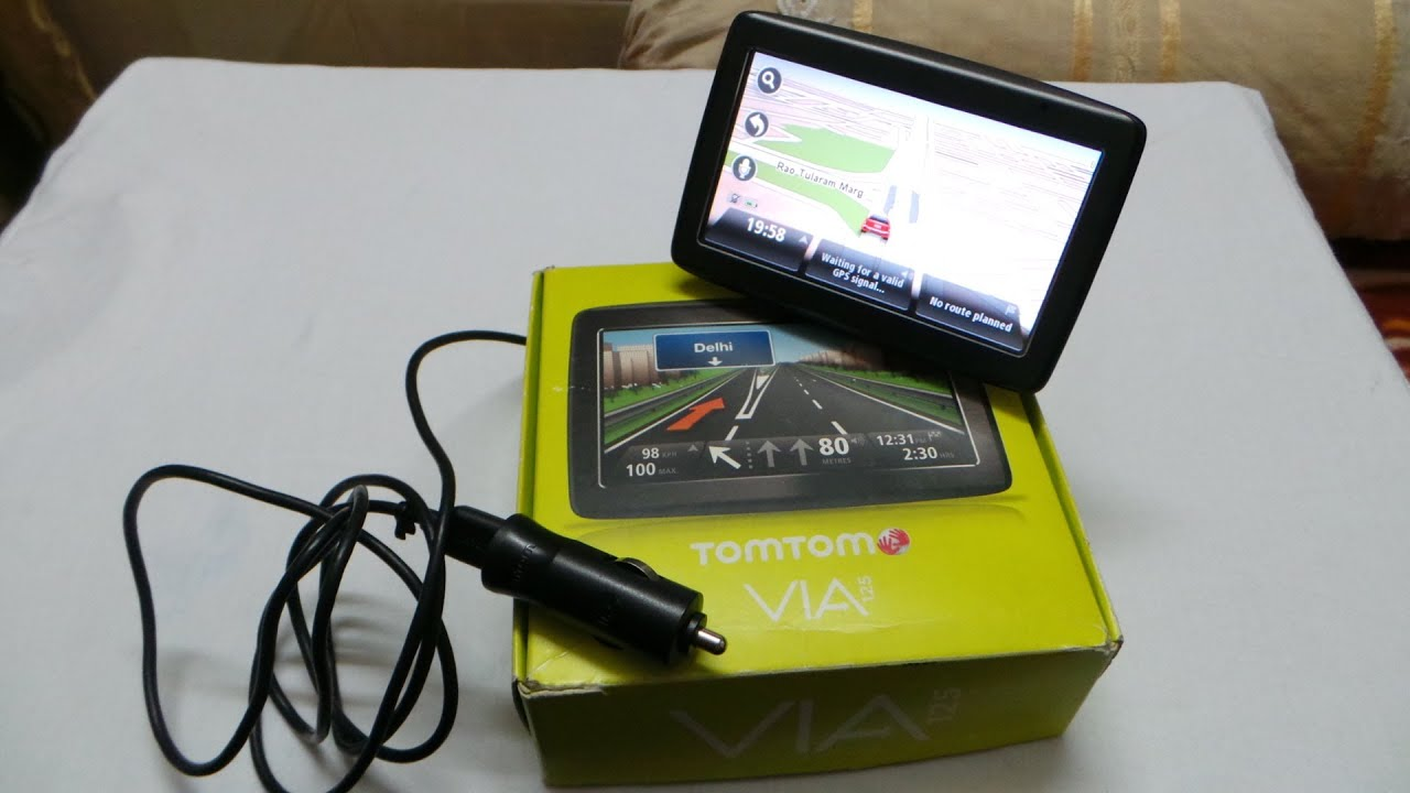 tomtom via 125 gps navigation device review and video demo youtube. Black Bedroom Furniture Sets. Home Design Ideas