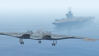 gta 5 landing massive b2 bomber on the aircraft carrier gta 5 pc mods funny moment