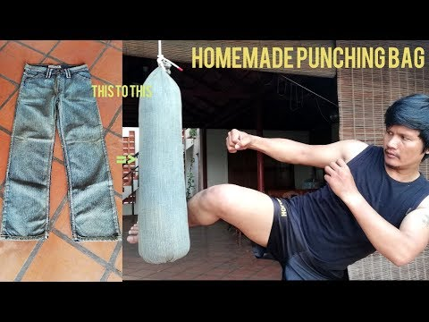 Homemade PUNCHING BAG/Vreca Za Udaranje Make By Jeans GYM At Home