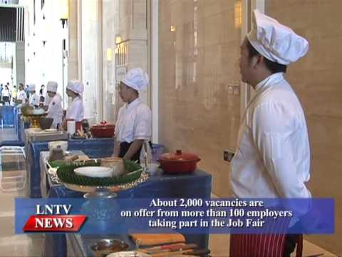 Lao NEWS on LNTV: About 2,000 vacancies are on offer from 100 employers at the Job Fair.8/6/2015