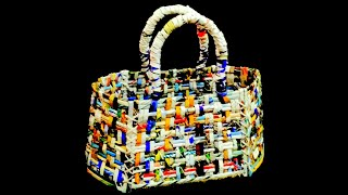 How to make a basket using magazine paper