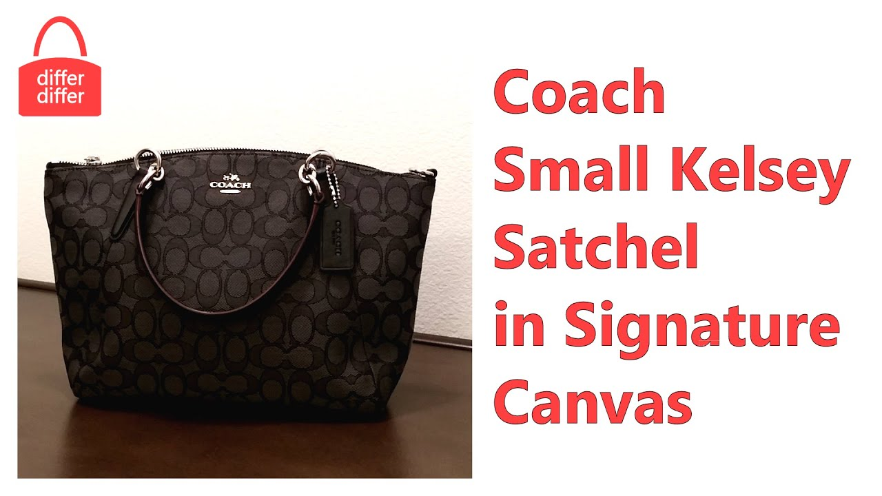 216bcb2d4370 Coach Small Kelsey Satchel in Signature Canvas 36625 - YouTube
