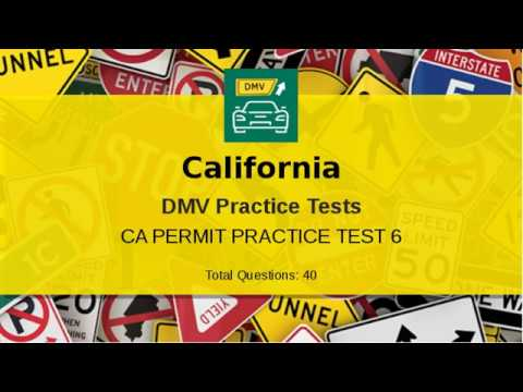 California DMV Written Test 2019 | Practice Test 6