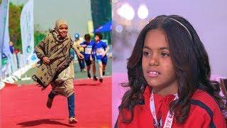 فازت بماراثون أسوان حافية القدمين .. شاهد الطفلة مروة تحكي قصتها التي أشعلت حديث السوشيال ميديا
