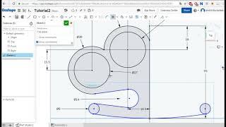 Onshape урок 1 ( Extrude, sketch, fillet, mirror) 3д CAD моделирование