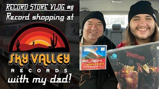 RECORD STORE VLOG #8 - Record shopping at Sky Valley Records with my dad! | Vinyl Community