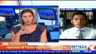Abogado Paolo Aldea habla sobre su renuncia a la defensa de Alejandro Toledo en caso Odebrecht