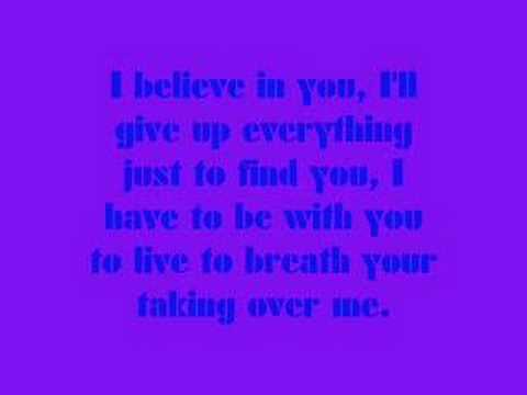 Evanescence- Taking Over Me- Lyrics - YouTube