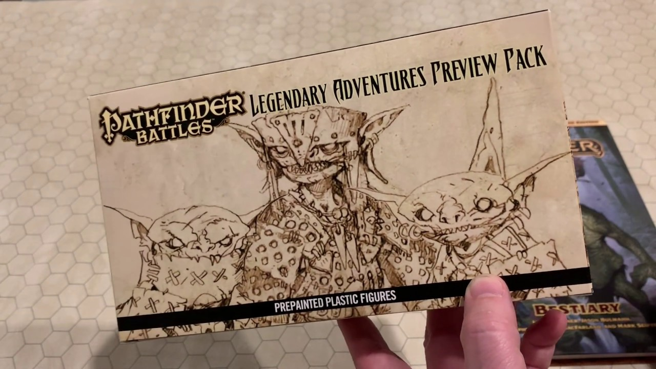 Unboxing the Preview Pack of the Pathfinder Battles Legendary Adventures  Miniatures from Wizkids