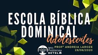 EBD ADOLESCENTES: Lição 10 - Hora de mudanças...radicais Profº: Andréia #BetelnoLar