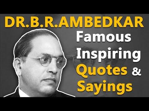 Top Inspirational & Motivational Quotes by Dr.B.R.Ambedkar | Indian Jurist | Economist | Politician