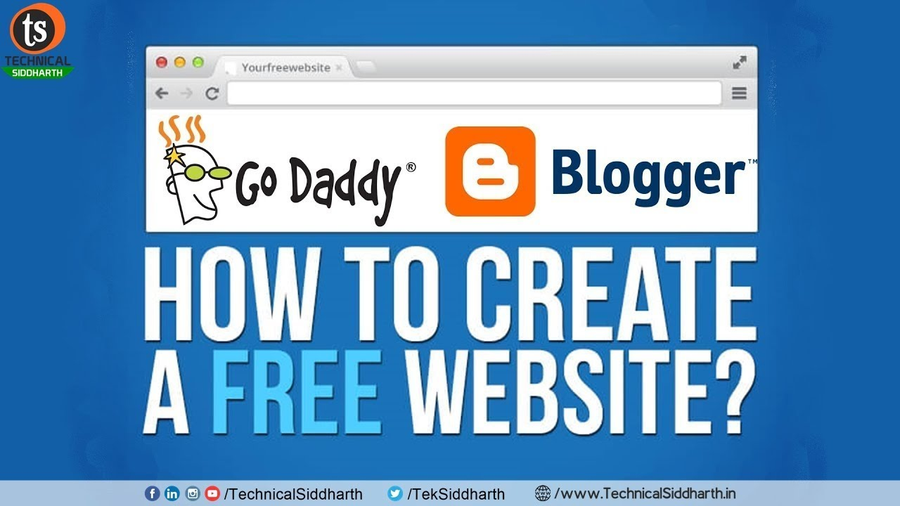 How to create free website | LifeTime free Hosting | Connect Domain to Blogger | Technical Siddharth