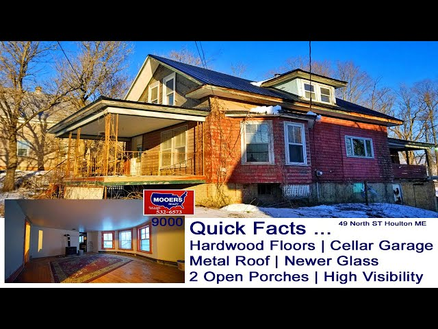 DIY Homes For Sale | Fix Flip 49 North ST Houlton ME House MOOERS REALTY #9000