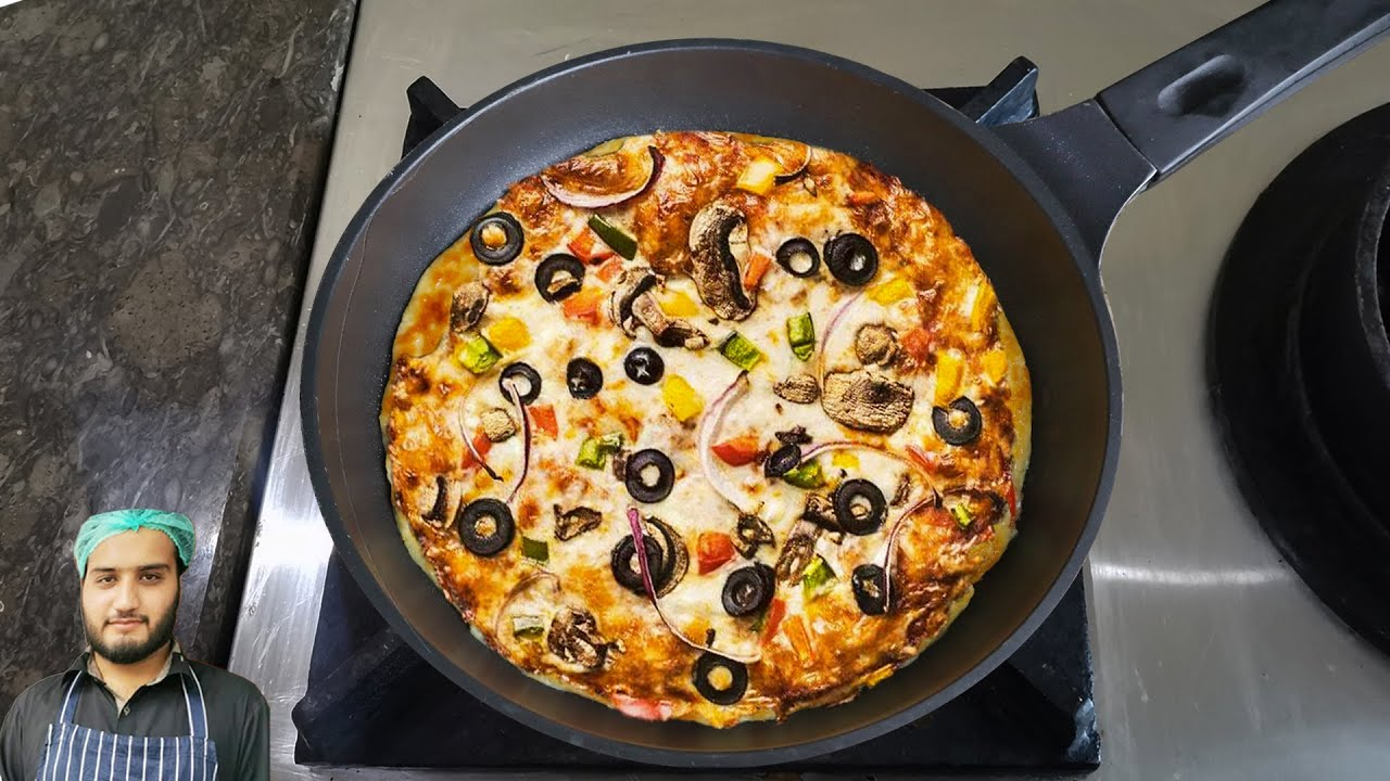 Pizza in non-stick pan without oven