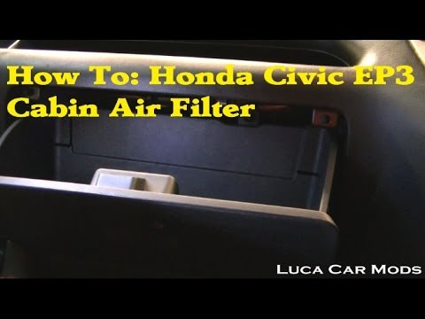 How to change a honda civic cabin air filter youtube for Change cabin air filter