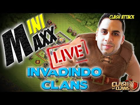 LIVE ZOEIRA :: MINIMAXX FARMANDO DARK NO SEU CLÃ :: CLASH OF CLANS