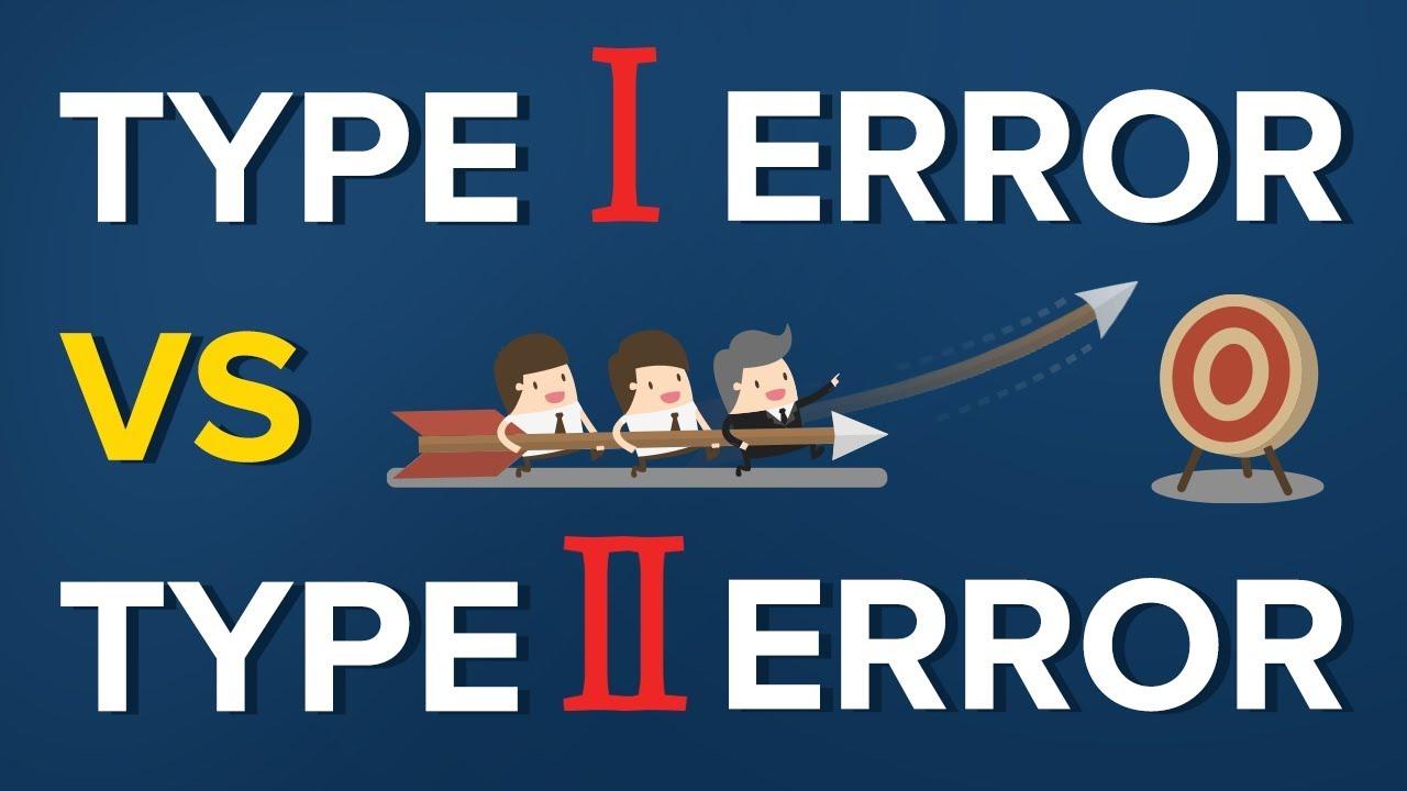 Type I error vs Type II error