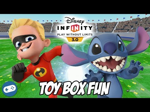 Dash And Stitch Disney Infinity 3.0 Toy Box Fun Gameplay