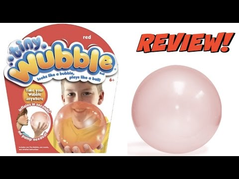 TINY WUBBLE BUBBLE UNBOXING! PLAYING WITH THE WUBBLE BUBBLE!