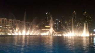 The Dubai Fountain. Abali Habibi- Elissa