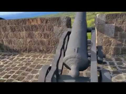 Saint St  Kitts Carribean. Brimstone Hill Fortress.
