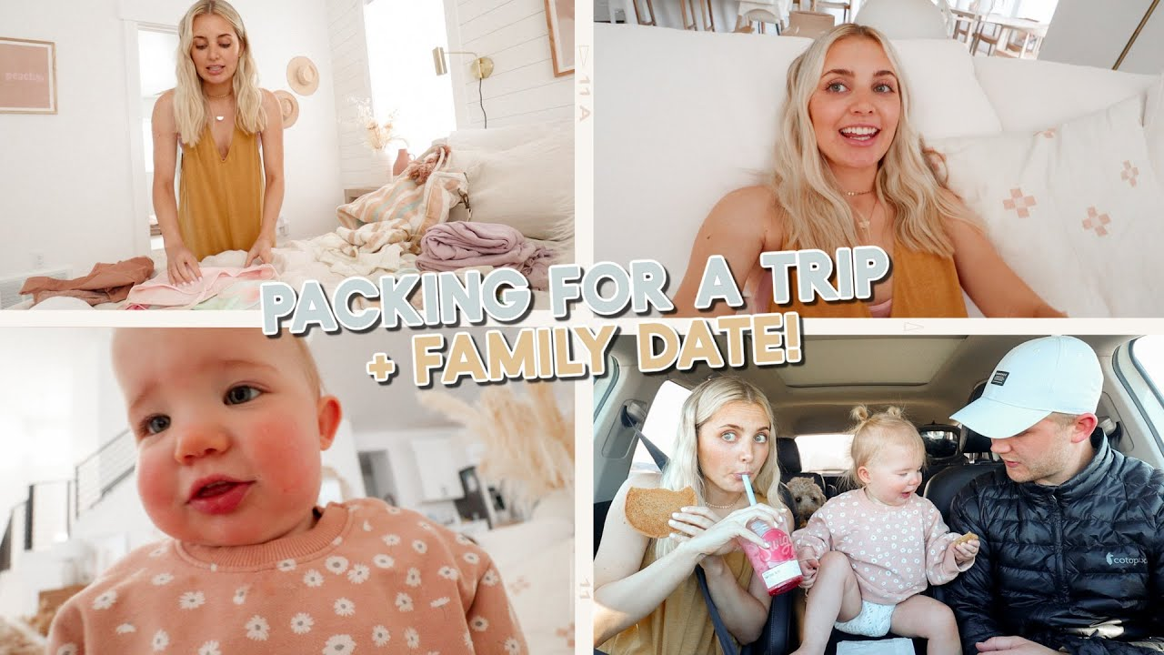 packing for a trip, family date & coco being cute!!!!