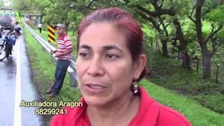 SIETE LESIONADOS EN ACCIDENTE DE TRANSITO CARRETERA JUIGALPA EL RAMA