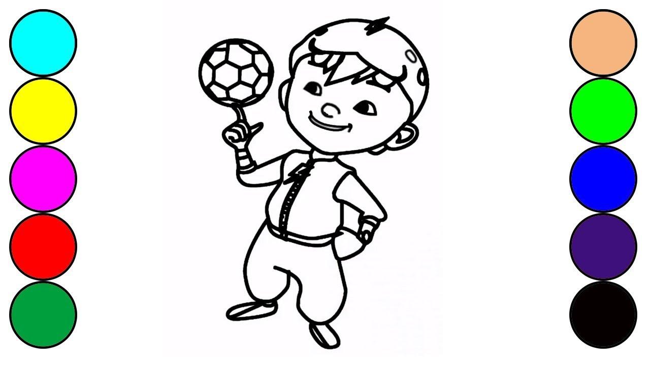 How To Drawing And Coloring Boboiboy For Kids Cara Menggambar Dan Mewarnai Boboiboy Galaxy