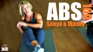Mandy Rose & Sonya Deville 100 Reps Abs (IN REAL TIME!)