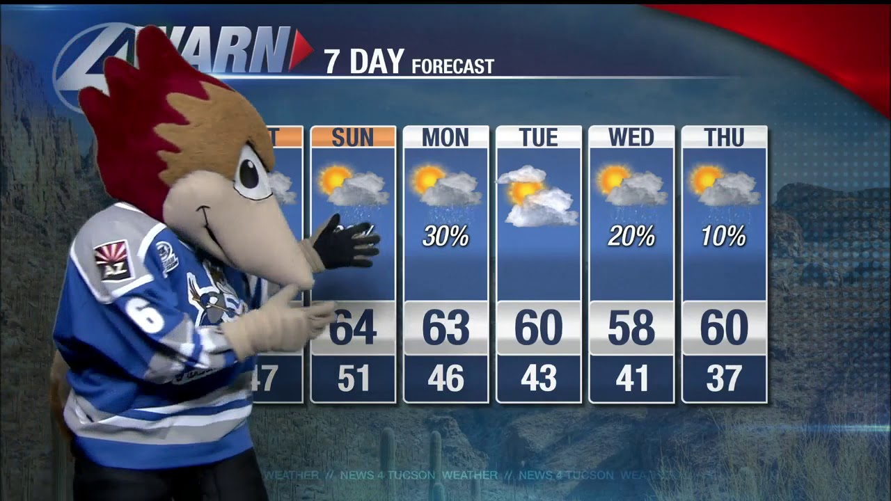 Dusty from the Tucson Roadrunners has our 7 day forecast