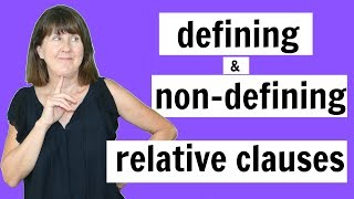 Defining and Non-Defining Relative Clauses - English Grammar Lesson Thumb
