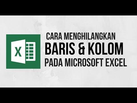 Cara Menghapus Baris dan Kolom Kosong pada Excel - Tutorial Excel Indonesia