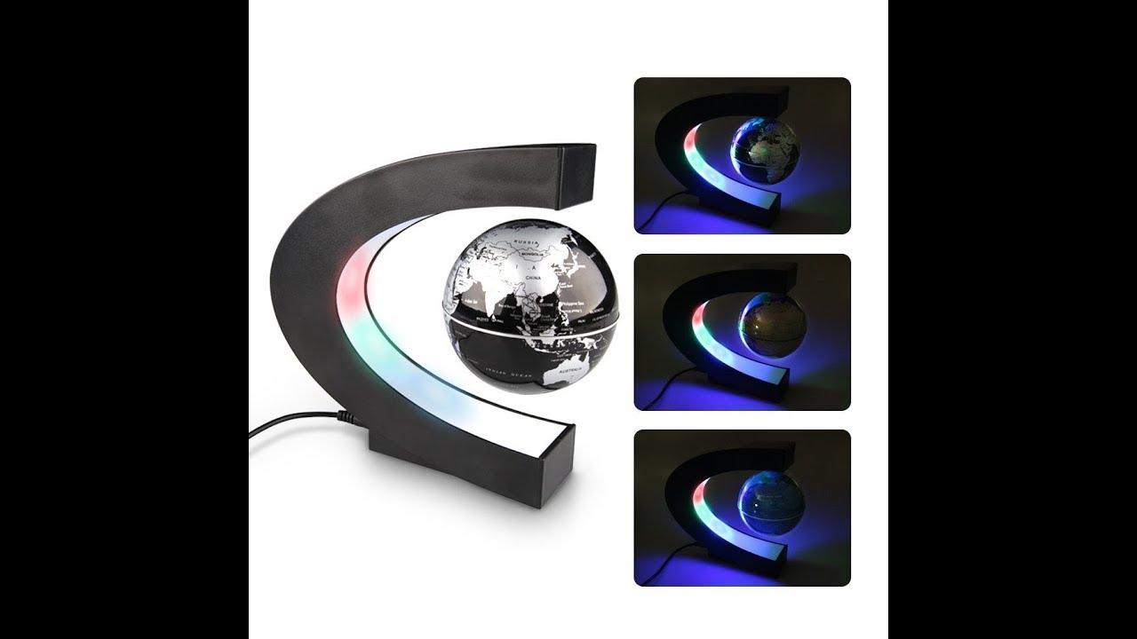 globo c levitazione magnetica  Globo Magnetico LED Fluttuante Levitazione - YouTube