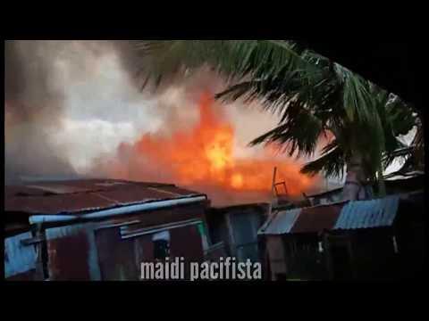 Viral , Kebakaran di kuala tungkal , 72 rumah hangus..