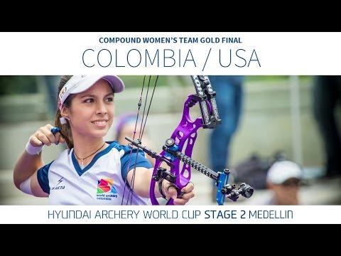 Colombia v USA  Compound Women's Team Gold Final | Medellin 2016