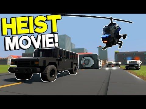 LEGO BANK HEIST & GETAWAY MOVIE! - Brick Rigs Gameplay - Cops and Robbers Roleplay