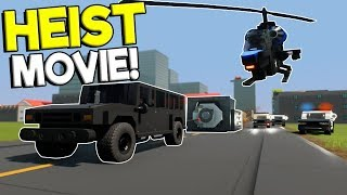 LEGO BANK HEIST & GETAWAY MOVIE! - Brick Rigs Gameplay - Cops and Robbers Roleplay