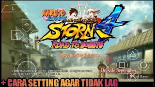 Cara Download Di Android Game NARUTO SHIPPUDEN ULTIMATE NINJA STORM 4 (Mod) PPSSPP