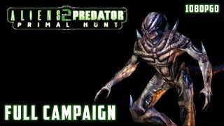 Aliens versus Predator 2: Primal Hunt (2002) - Full Campaign 1080p60 HD Walkthrough - Predalien
