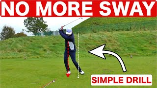 STOP SWAYING TO GET A BETTER STRIKE - SIMPLE GOLF DRILL