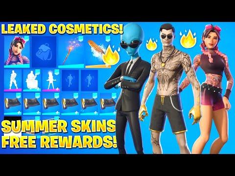 All *NEW* Leaked Fortnite Summer Skins! *FREE REWARDS* (Summer Midas, Summer Brutus & Sumer Jules)