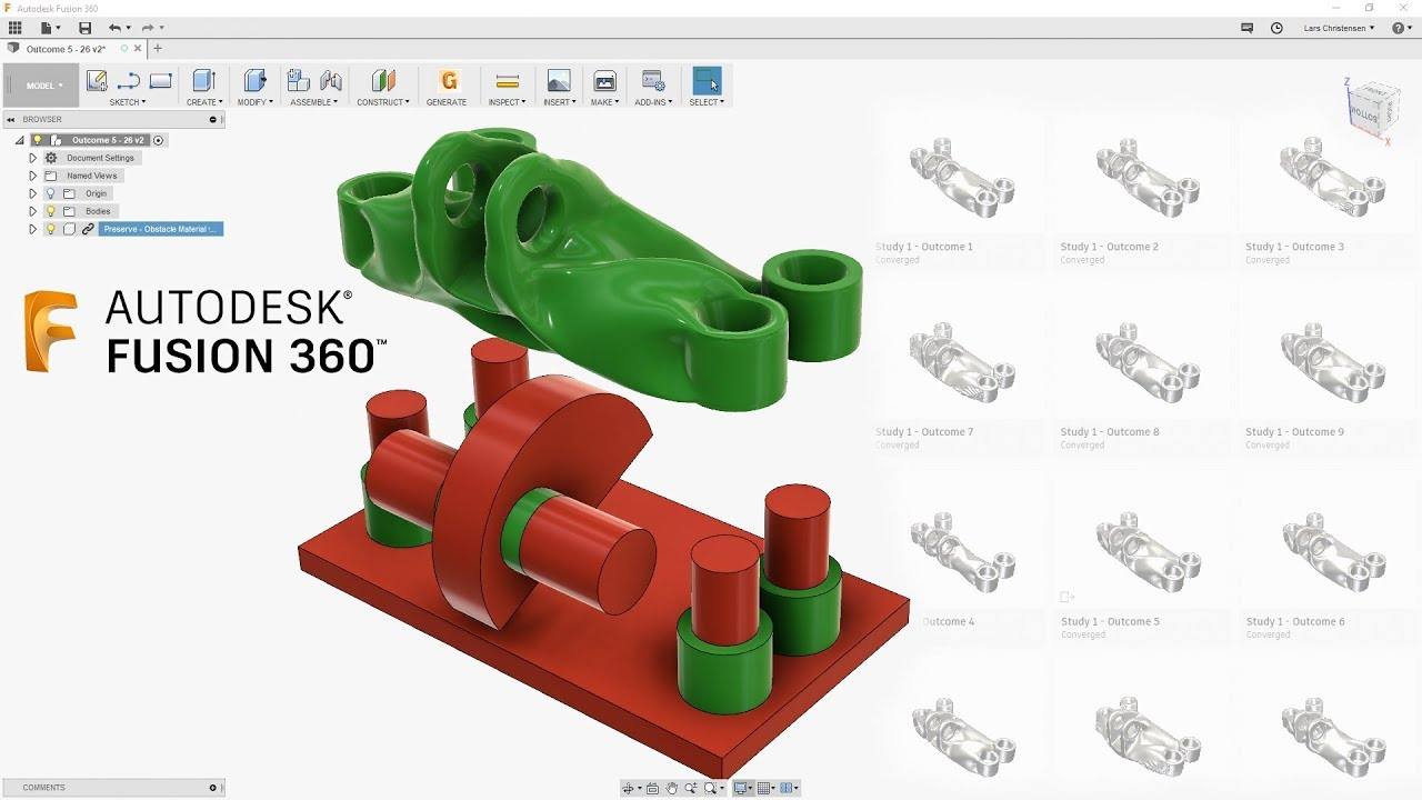 understand generative design — fusion 360 tutorial — #larslive 149