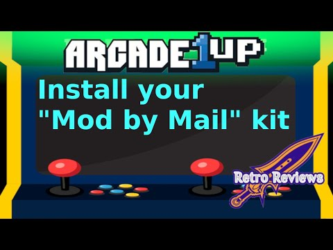 Install Arcade 1Up Mod by Mail kit from RetroReviews