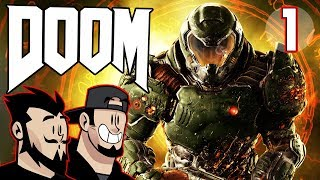 DOOM Lets Play: Bathed In Red - PART 1  - TenMoreMinutes