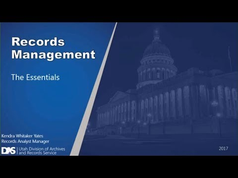 Records Management Essentials Training