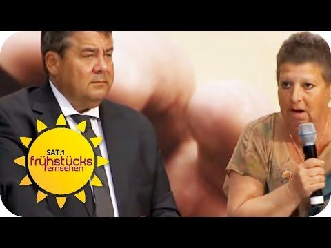 PUTZFRAU  vs. VIZEKANZLER Sigmar Gabriel   SAT.1 Frühstücksfernsehen