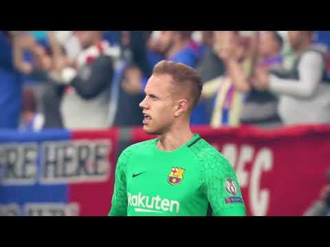 Benteke Champions League Final goal Crystal Palace vs Barcelona PES2018