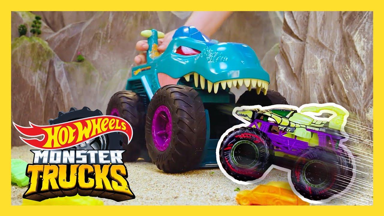 AVOID THE MEGA-WREX DRAGON AT ALL COSTS! 🐉 | Monster Trucks Tournament of Titans | @Hot Wheels