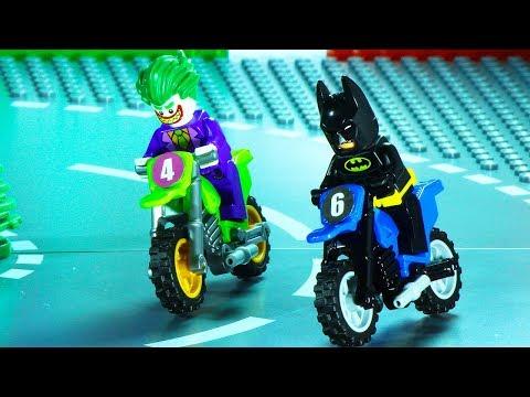 Lego Motorcycle Races - Batman vs Joker